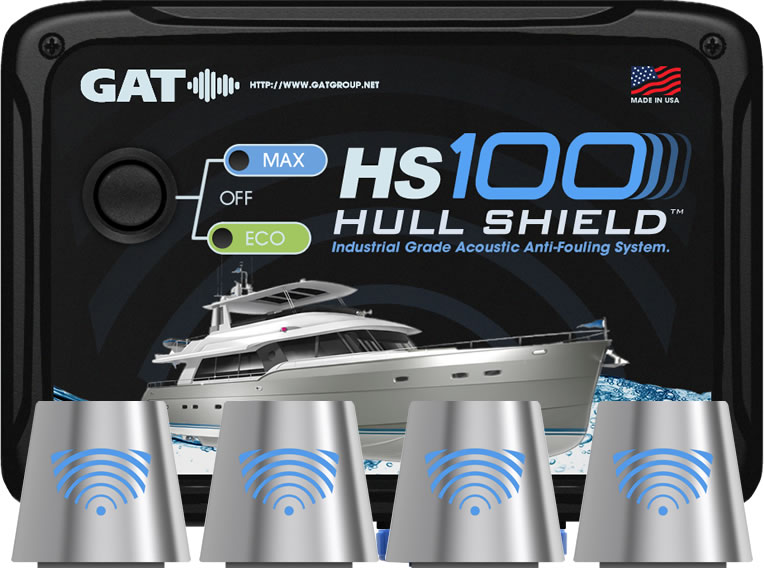 Hull Shield HS10 Ultrasonic Boat Hull Bottom Antifouling System for Hulls