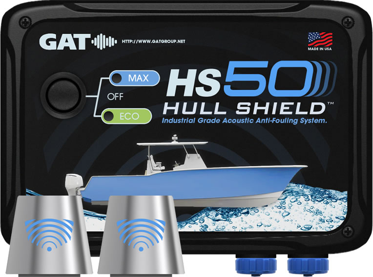 Hull Shield HS50 Ultrasonic Boat Hull Bottom Antifouling System for Hulls